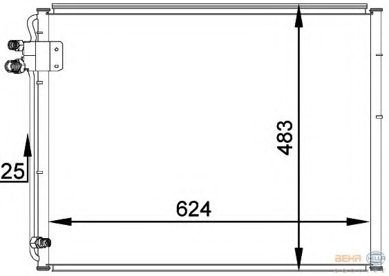 8FC351036761 HELLA Конденсатор, кондиционер