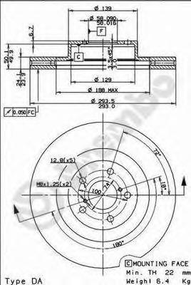 Диск тормозной вентилируемый BREMBO 09907711