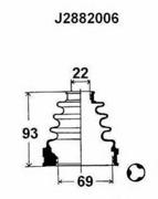 J2882006 NIPPARTS Комплект пылника, приводной вал