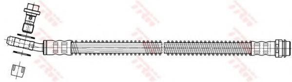 PHD559 TRW/LUCAS Шланг тормозной | зад прав/лев |