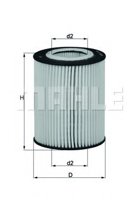 Масляный фильтр MAHLE/KNECHT OX433D