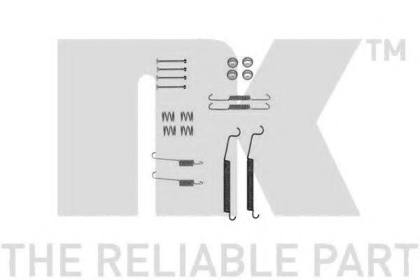 7937830 NK Комплектующие, тормозная колодка
