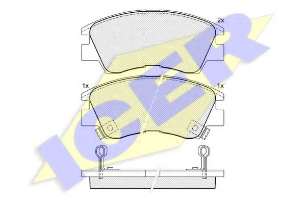 140701 ICER Комплект тормозных колодок, дисковый тормоз