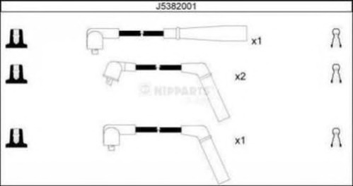 J5382001 NIPPARTS Комплект проводов зажигания
