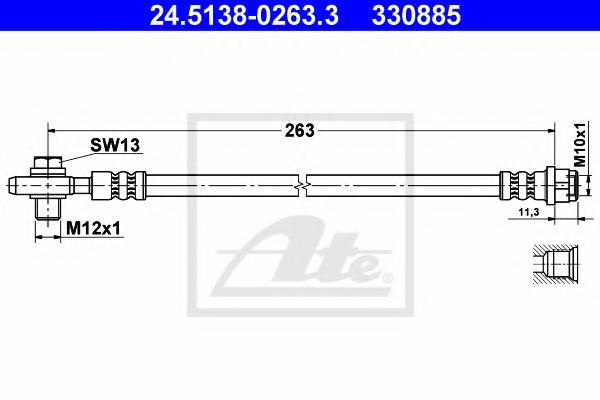 24513802633 ATE Тормозной шланг