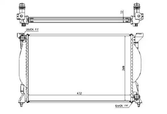 Радиатор, охлаждение двигателя NRF 53720