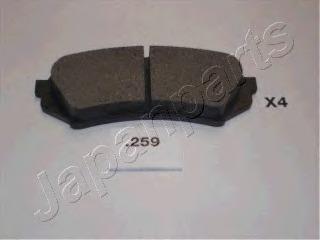PP259AF JAPANPARTS Комплект тормозных колодок, дисковый тормоз