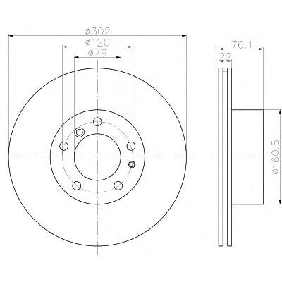 92042200 TEXTAR Тормозной диск