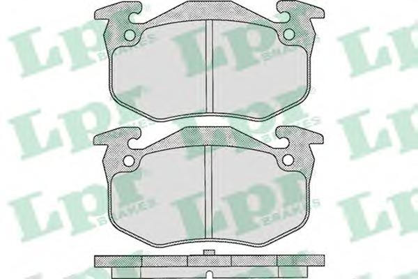05P307 LPR Комплект тормозных колодок, дисковый тормоз