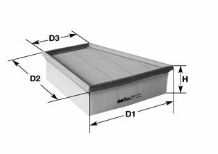 Фильтр воздушный CLEAN FILTERS MA1176
