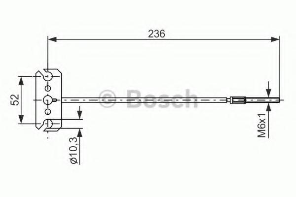 1987477226 BOSCH Трос, стояночная тормозная система