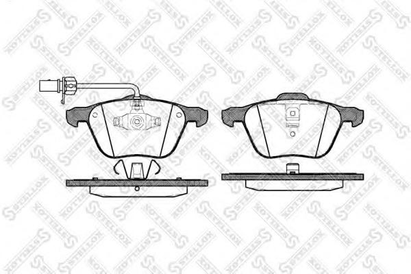 847002BSX STELLOX Комплект тормозных колодок
