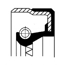 01019154B CORTECO Уплотняющее кольцо, дифференциал