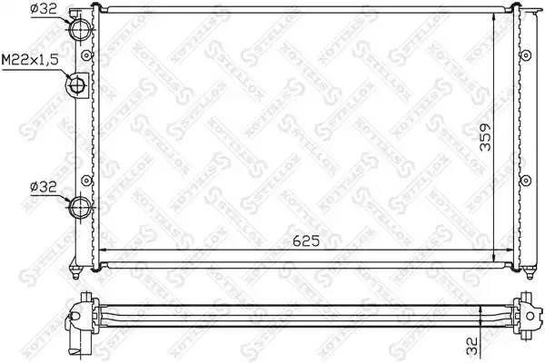 Радиатор STELLOX 1026424SX