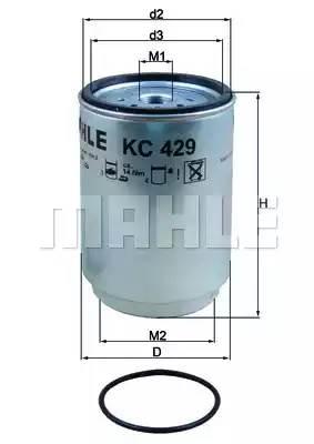 KC429D MAHLE Топливный фильтр