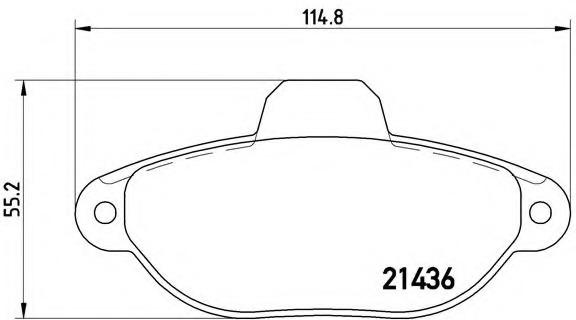 P23160 BREMBO Тормозные колодки