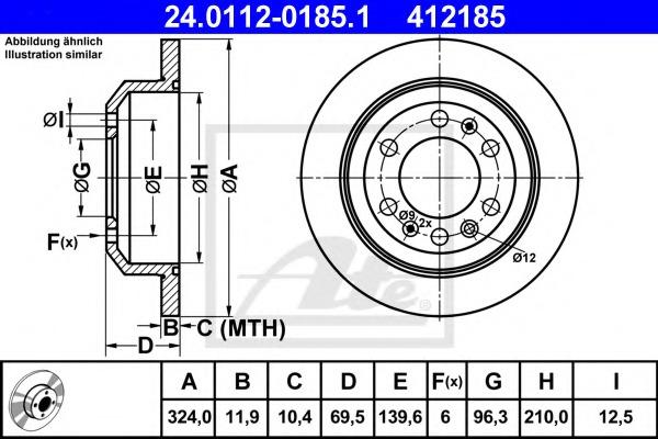 24011201851 ATE Тормозной диск