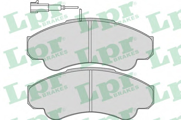 05P967 LPR/AP Комплект тормозных колодок, дисковый тормоз