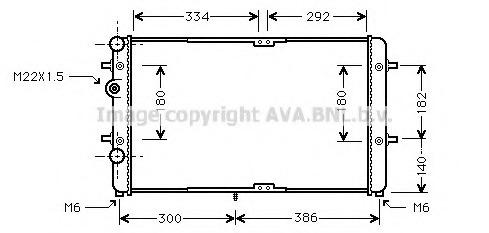 VWA2180 AVA Радиатор, охлаждение двигателя