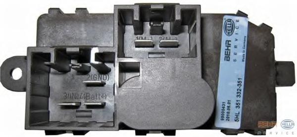 5HL351332351 HELLA Сопротивление, вентилятор салона