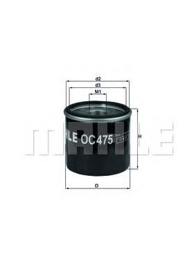 Масляный фильтр MAHLE OC475