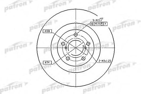PBD7004 PATRON Диск тормозной