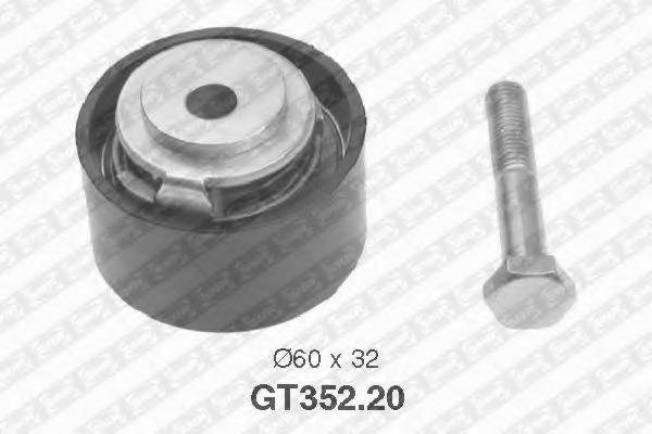 Натяжной ролик, ремень ГРМ NTN-SNR GT35220