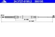 24372701952 ATE Трос, стояночная тормозная система