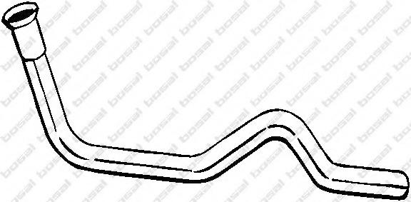 785407 BOSAL Глушитель передняя часть