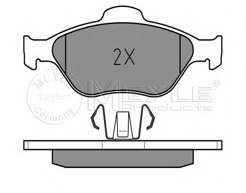 0252360418 MEYLE Комплект тормозных колодок, дисковый тормоз