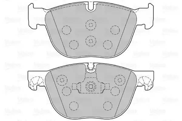 301130 VALEO Комплект тормозных колодок, дисковый тормоз