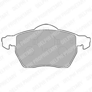 LP1687 DELPHI Комплект тормозных колодок, дисковый тормоз