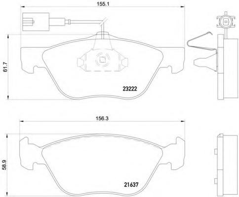 2163702 TEXTAR Комплект тормозных колодок, дисковый тормоз