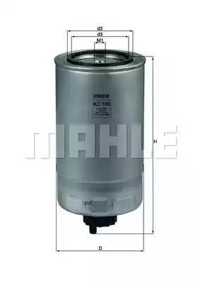KC186 KNECHT Топливный фильтр