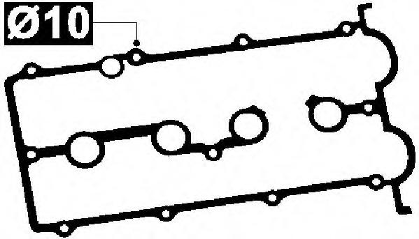 11056400 AJUSA Прокладка, крышка головки цилиндра