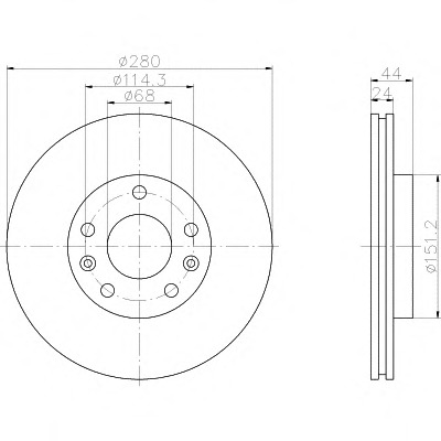 92195503 TEXTAR Тормозной диск