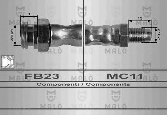 80176 MALO Тормозной шланг