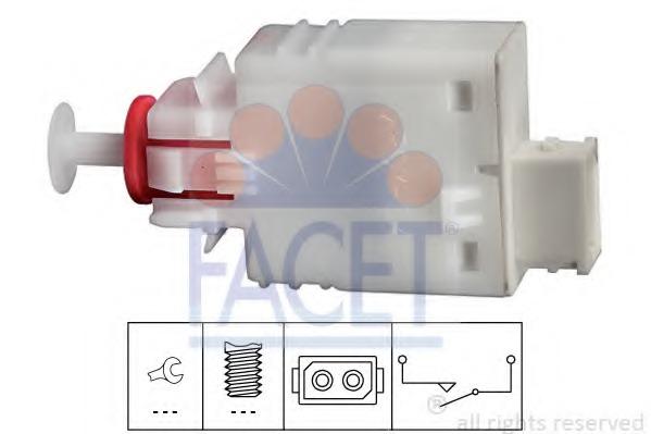 71110 FACET Выключатель, привод сцепления (Tempomat)