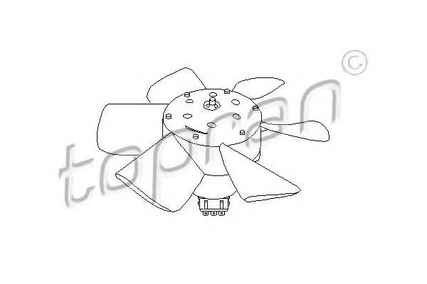 102547 TOPRAN Вентилятор, охлаждение двигателя