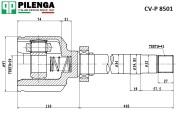 CVP8501K PILENGA ШРУС внутренний правый, шлицы - 41х29