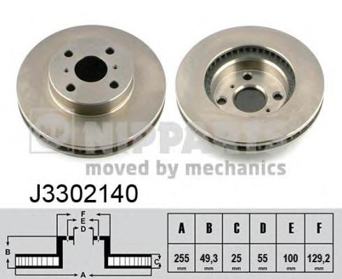 J3302140 NIPPARTS Тормозной диск