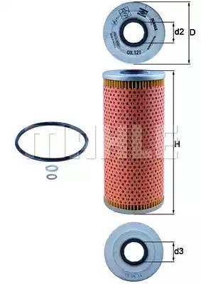 Масляный фильтр MAHLE/KNECHT OX121D
