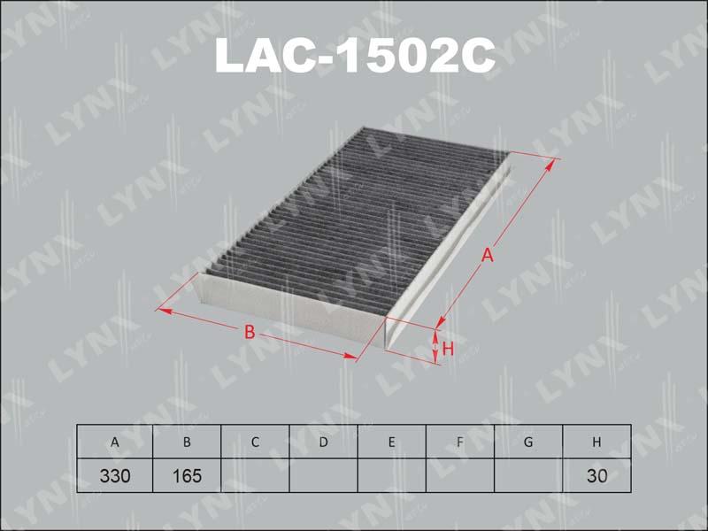LAC1502C LYNX Фильтр салонный угольный