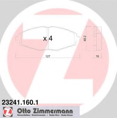 232411601 ZIMMERMANN Тормозные колодки