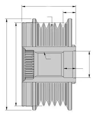 9XU358038831 HELLA Механизм свободного хода генератора