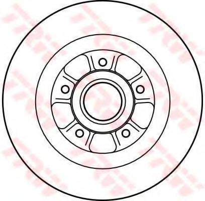 DF4227 TRW Тормозной диск