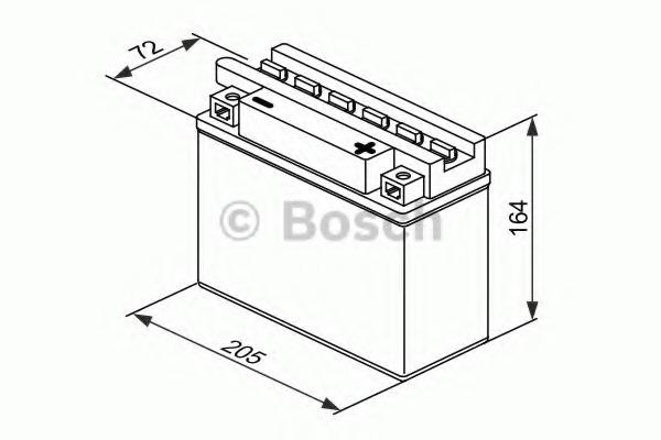 0092M4F400 BOSCH Стартерная аккумуляторная батарея