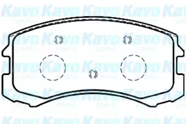 BP5546 KAVO PARTS Комплект тормозных колодок, дисковый тормоз