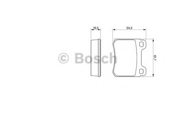 0986466871 BOSCH Комплект тормозных колодок, дисковый тормоз