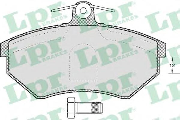 05P613 LPR Комплект тормозных колодок, дисковый тормоз